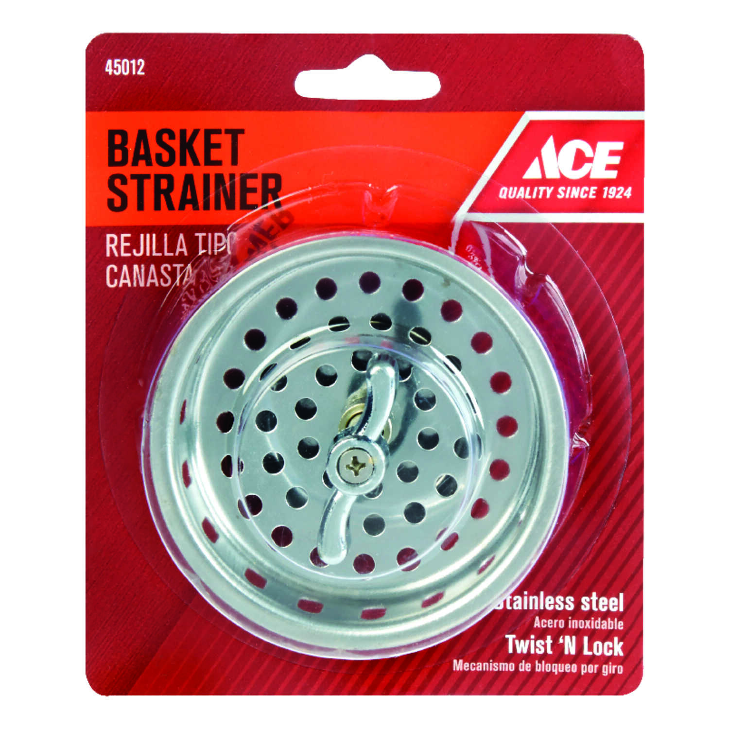 Ace  3-1/4 in. Dia. Basket Strainer Assembly