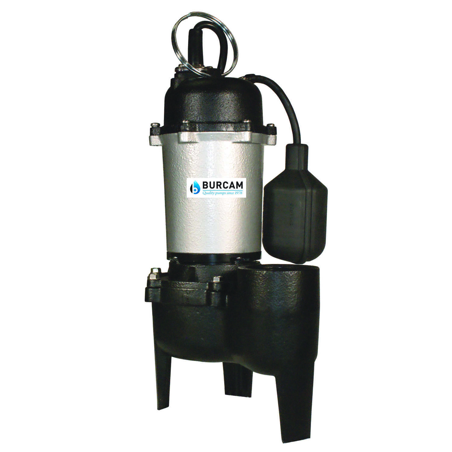 Burcam  1/2 hp 60 gph Cast Iron  Submersible Sewage Ejector Pump