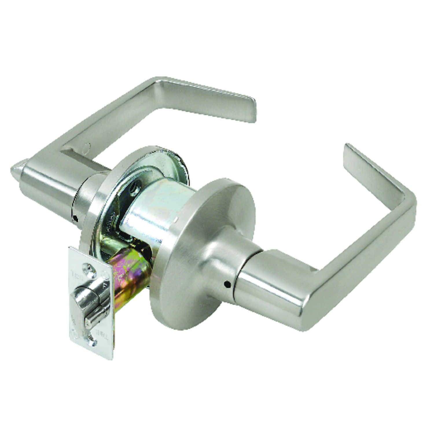Tell  Cortland  Satin Chrome  Steel  Privacy Lockset  2 in. ANSI Grade 2
