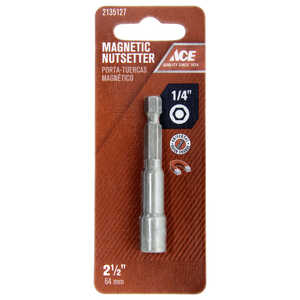 Ace  1/4 in. drive  x 2-1/2 in. L 1/4 in. 1 pc. Magnetic Nut Setter  Chrome Vanadium Steel  Quick-Ch