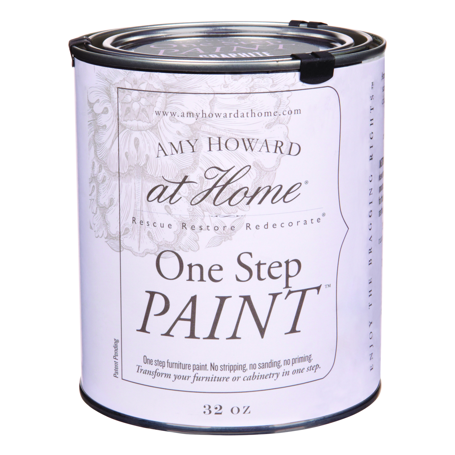 Amy Howard at Home  Flat Chalky Finish  Graphite  One Step Paint  32 oz. Latex