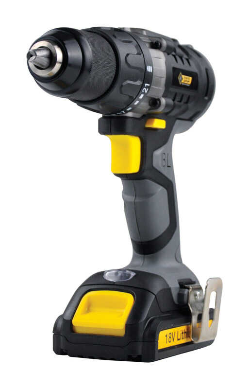 Steel Grip  18 volt 1/2 in. Brushless Cordless Drill  1500 rpm 2 speed
