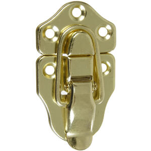 National Hardware  Brass-Plated  Steel  Drawer Catch  2-7/8 in. 2 pk
