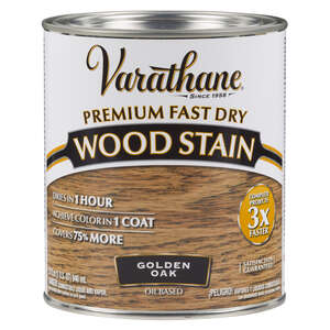 Varathane  Premium Fast Dry  Semi-Transparent  Golden Oak  Wood Stain  1 qt.