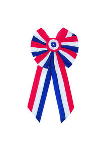 Holiday Trims  Patriotic  Bow  Velvet  1 pk