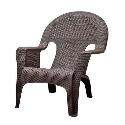 Adams  1 pc. Brown  Resin Frame Woven  Chair