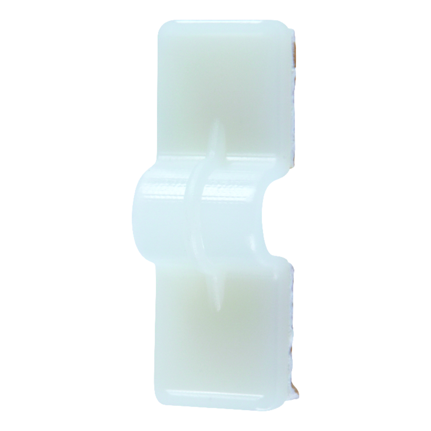Jandorf  Double Press  1/4 in. Dia. x 1.38 in. L Natural  Nylon  Cable Clip