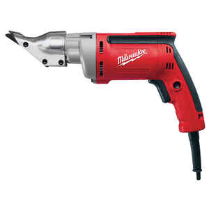Milwaukee  18 Ga. Shear  6.8 amps 120 volt 2500 spm Red  Corded