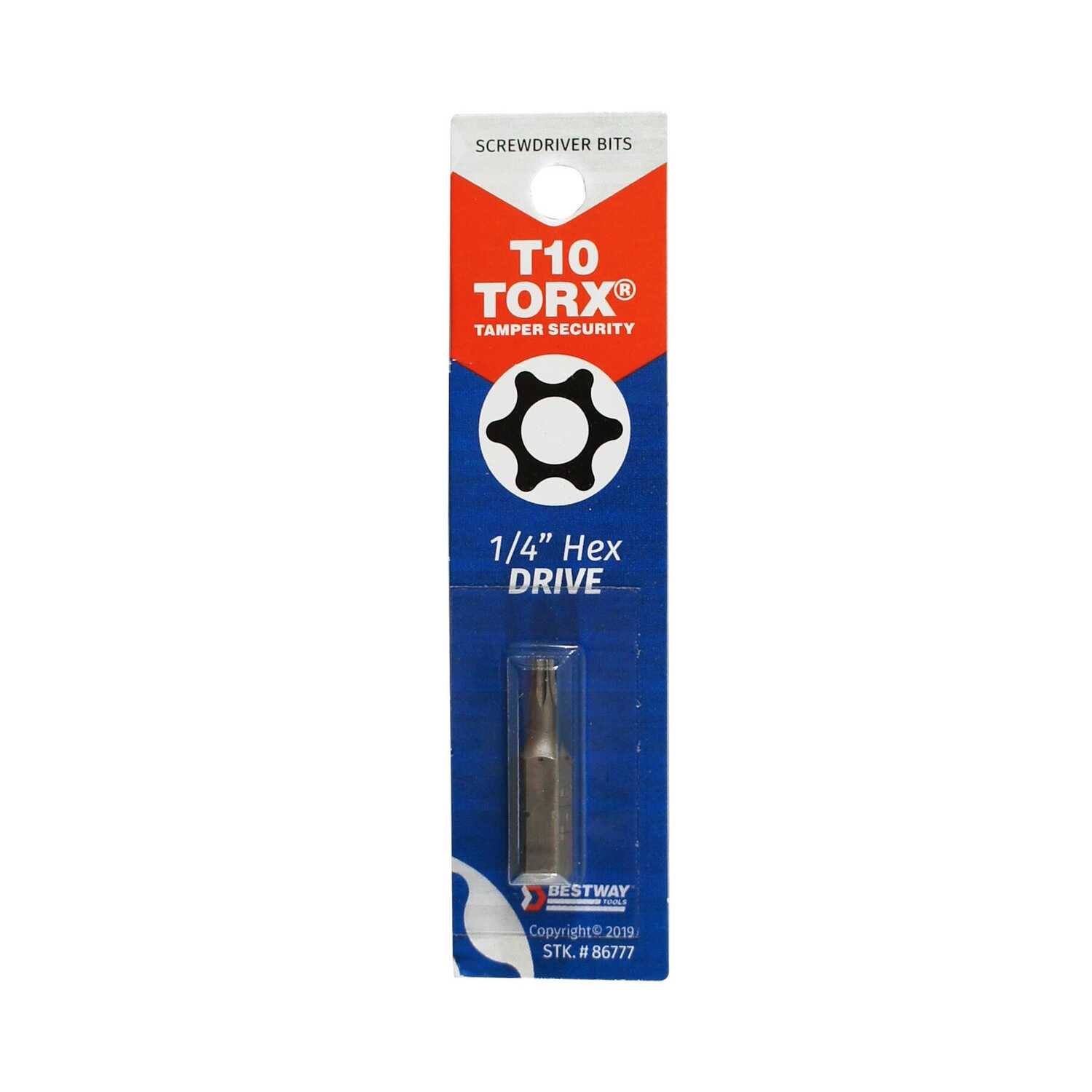 Best Way Tools  Torx  1 in. L x 1/4 in.  Screwdriver Bit  1/4 in. Hex Shank  Carbon Steel  1 pc.