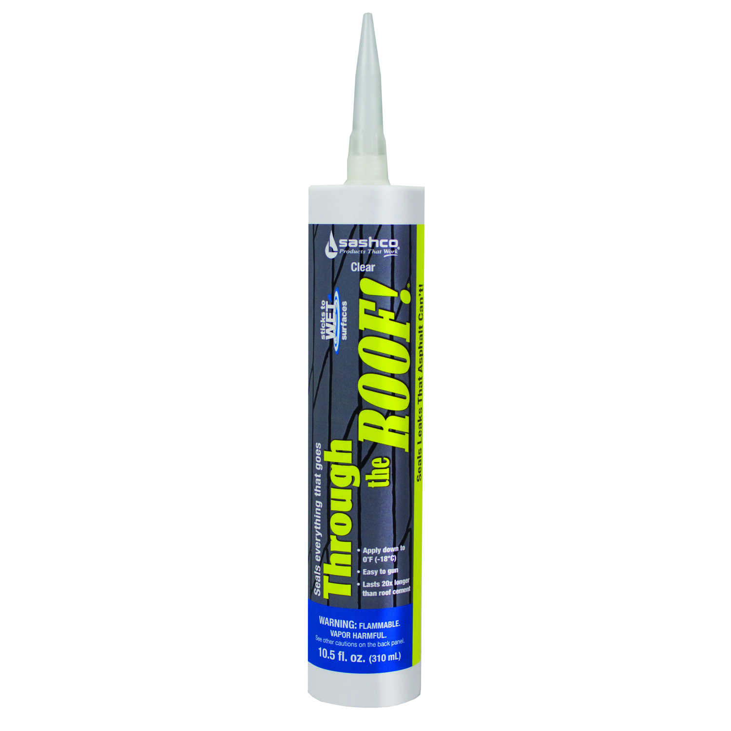 Sashco  Through The Roof  Clear  Elastomeric  Roof Sealant  10.5 oz.