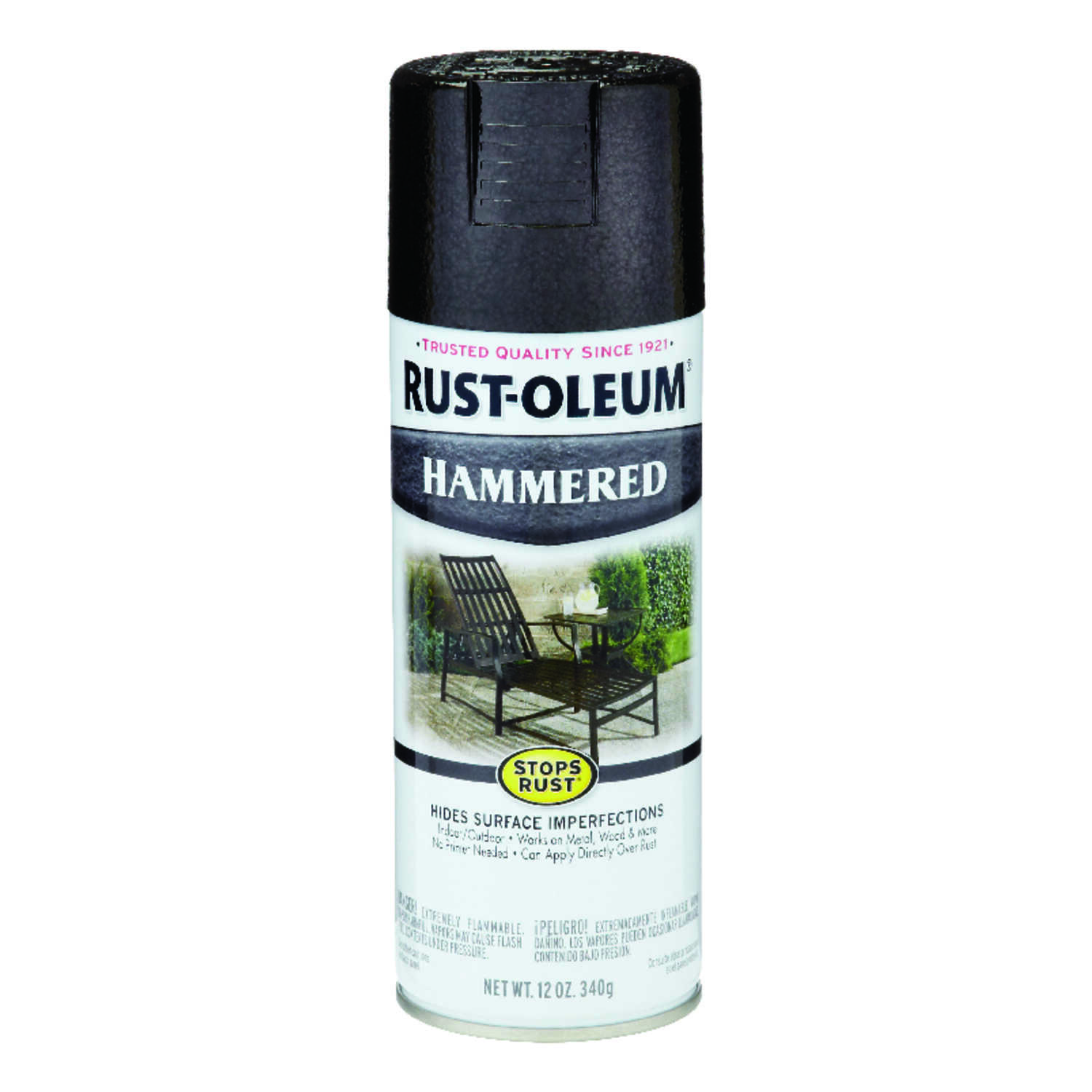 Rust-Oleum  Stops Rust  Gloss  Black  Spray Paint  12 oz.