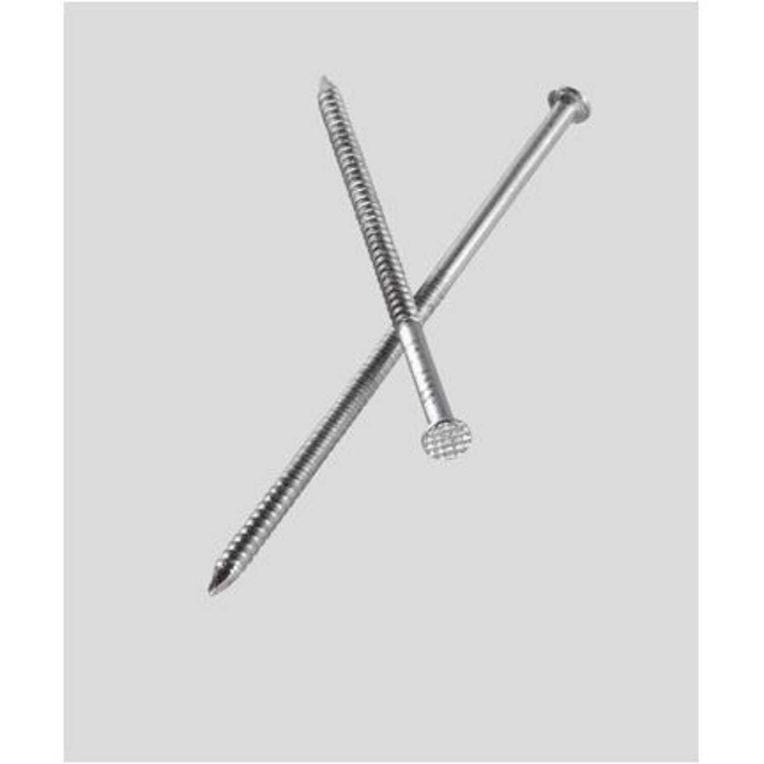 Simpson Strong-Tie  3 in. L 10D  Coated  Nail  Ring Shank  Round  1 lb. Stainless Steel  Deck