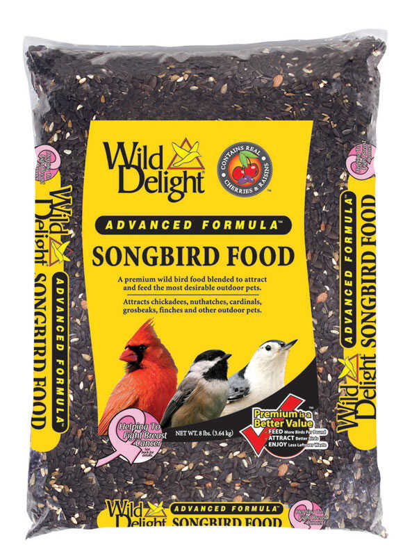 Wild Delight  Songbird  Songbird  Wild Bird Food  Sunflower Seeds  8 lb.