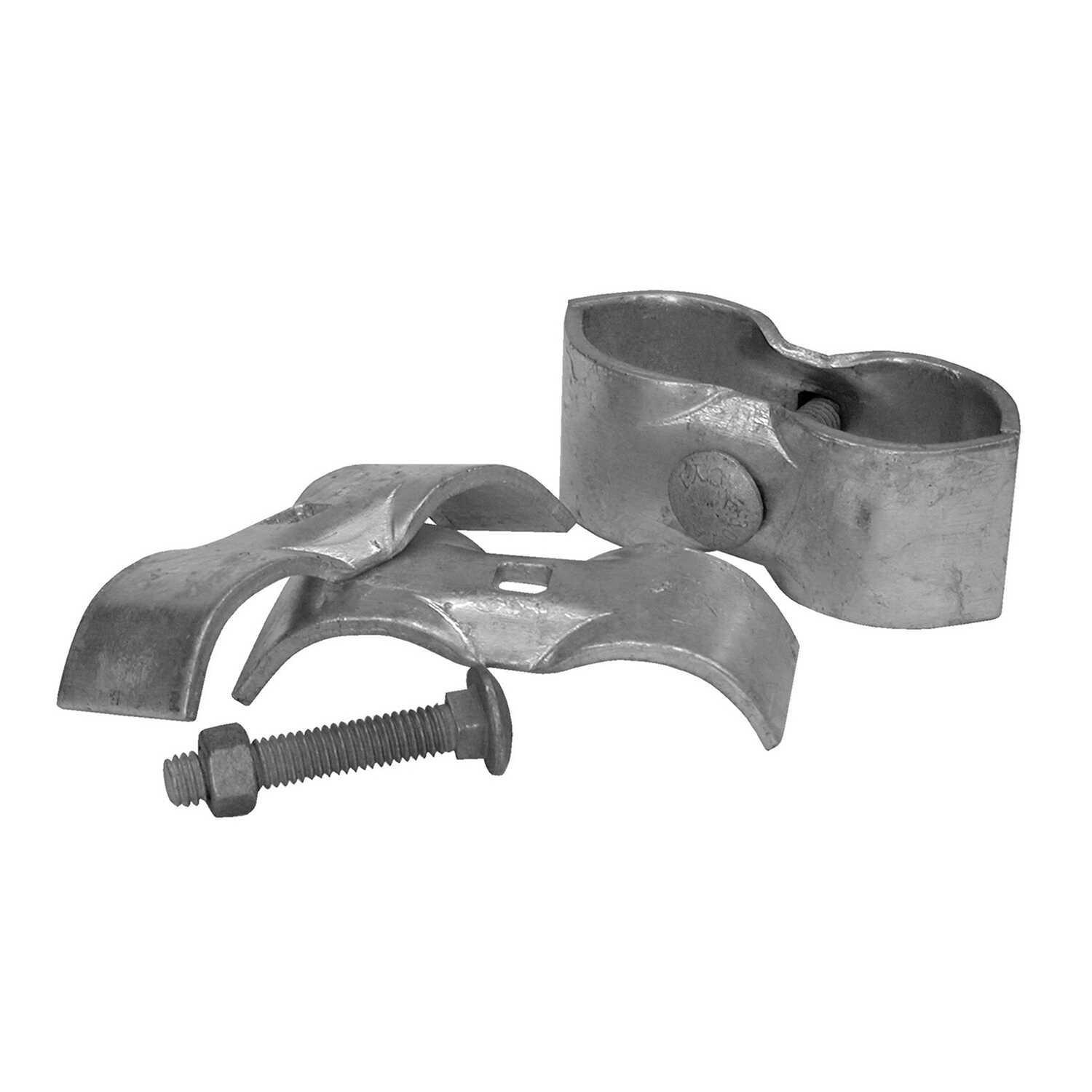 YardGard  3.35 in. L Steel  Kennel Clamp  2 pk