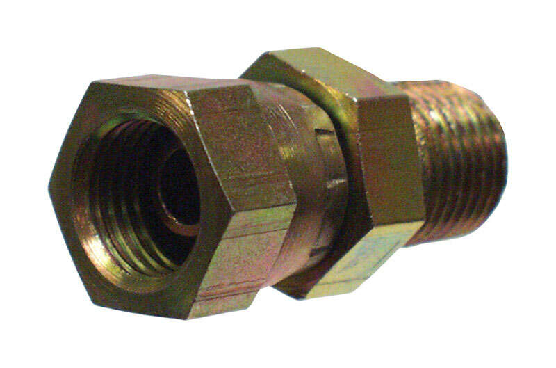 Apache  Steel  1/2 in. Dia. x 1/2 in. Dia. Hydraulic Adapter