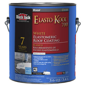 Black Jack  Roof-Gard 700  Gloss  White  Acrylic  Elastomeric Roof Coating  1 gal.