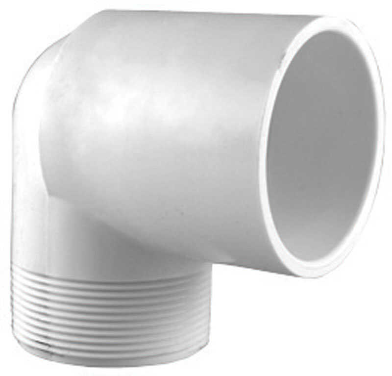 Charlotte Pipe  Schedule 40  2 in. Slip   x 2 in. Dia. MPT  PVC  Street Elbow