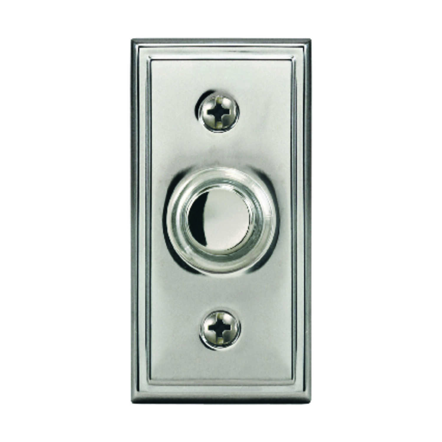 Heath Zenith  Satin Nickel  Pushbutton Doorbell  Wired