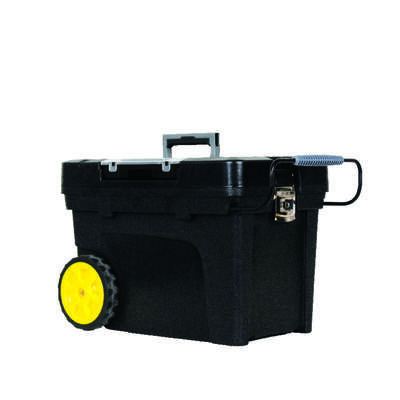 Stanley 14.7 in. Resin Tool Chest 24.3 in. W x 16.5 in. H Wheeled Black