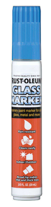 Rust-Oleum  Glass Markers  Blue  Broad Tip  Glass Marker  1 pk
