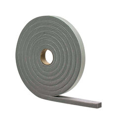 M-D Building Products Gray Vinyl and Foam Weather Stripping Tape For Doors, Doors 17 ft. L x 1/8