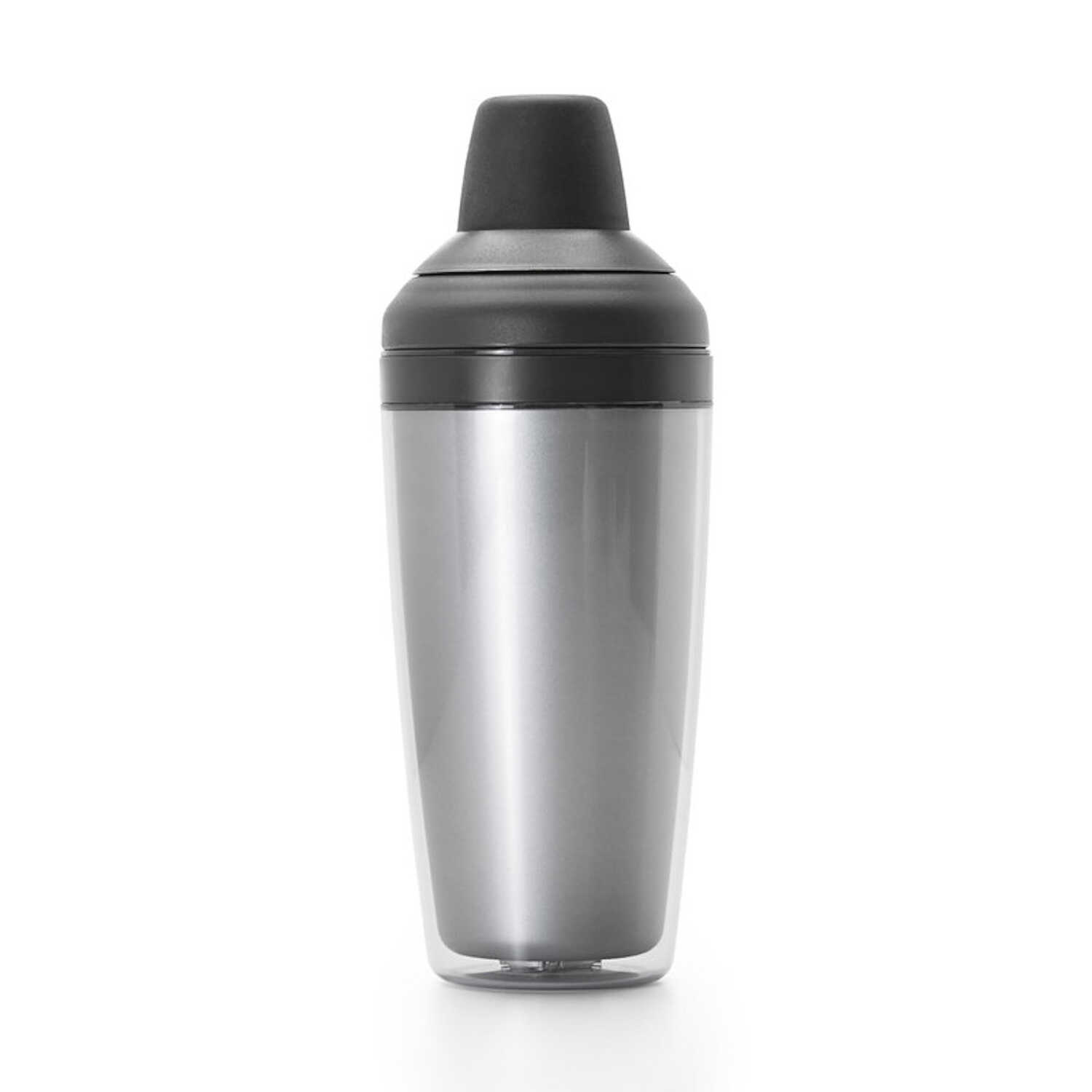 OXO  Good Grips  16 oz. Black/Silver  Cocktail Shaker  Plastic