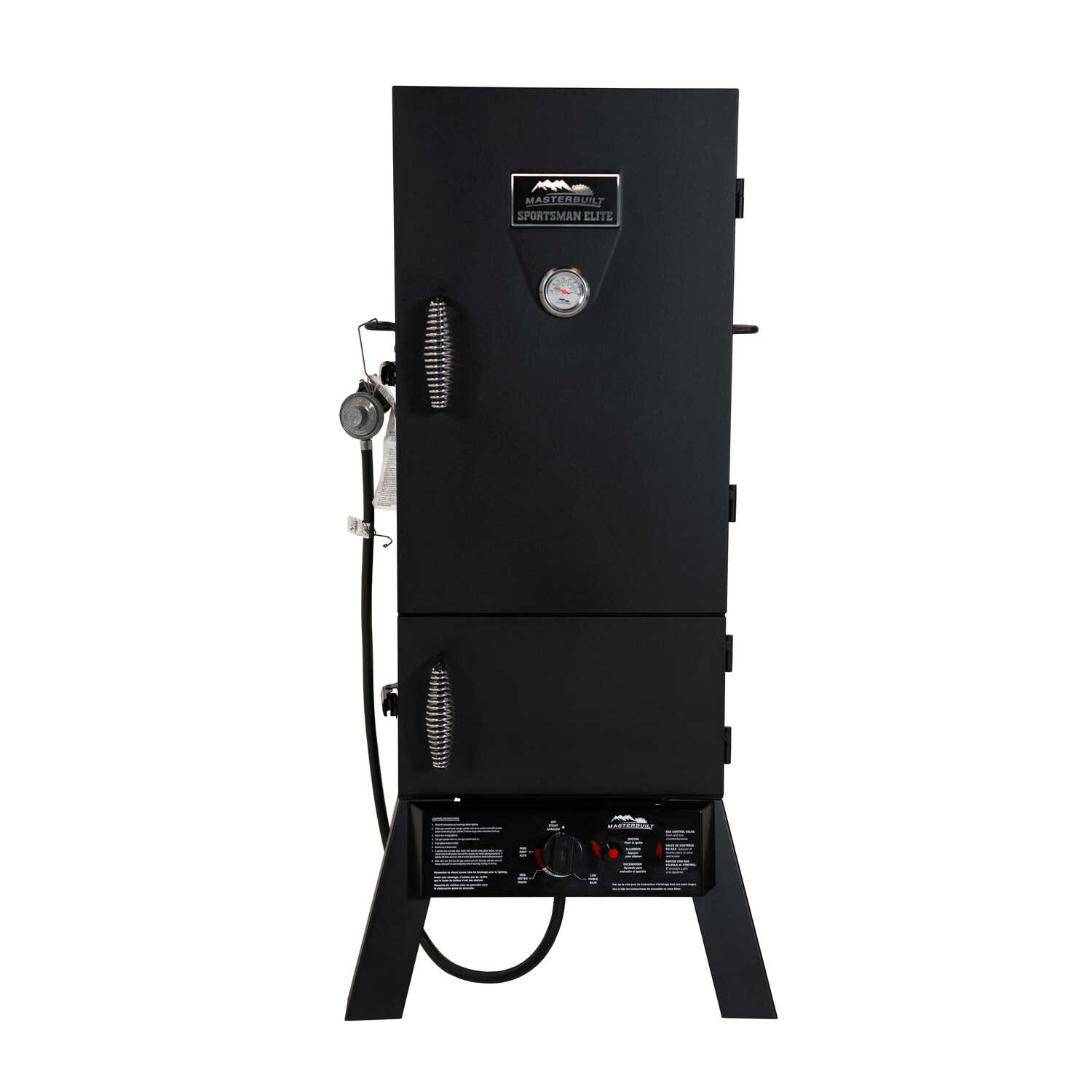 Masterbuilt  Sportsman Elite 30 in.  1 burners Propane  Smoker  Black  15400 BTU
