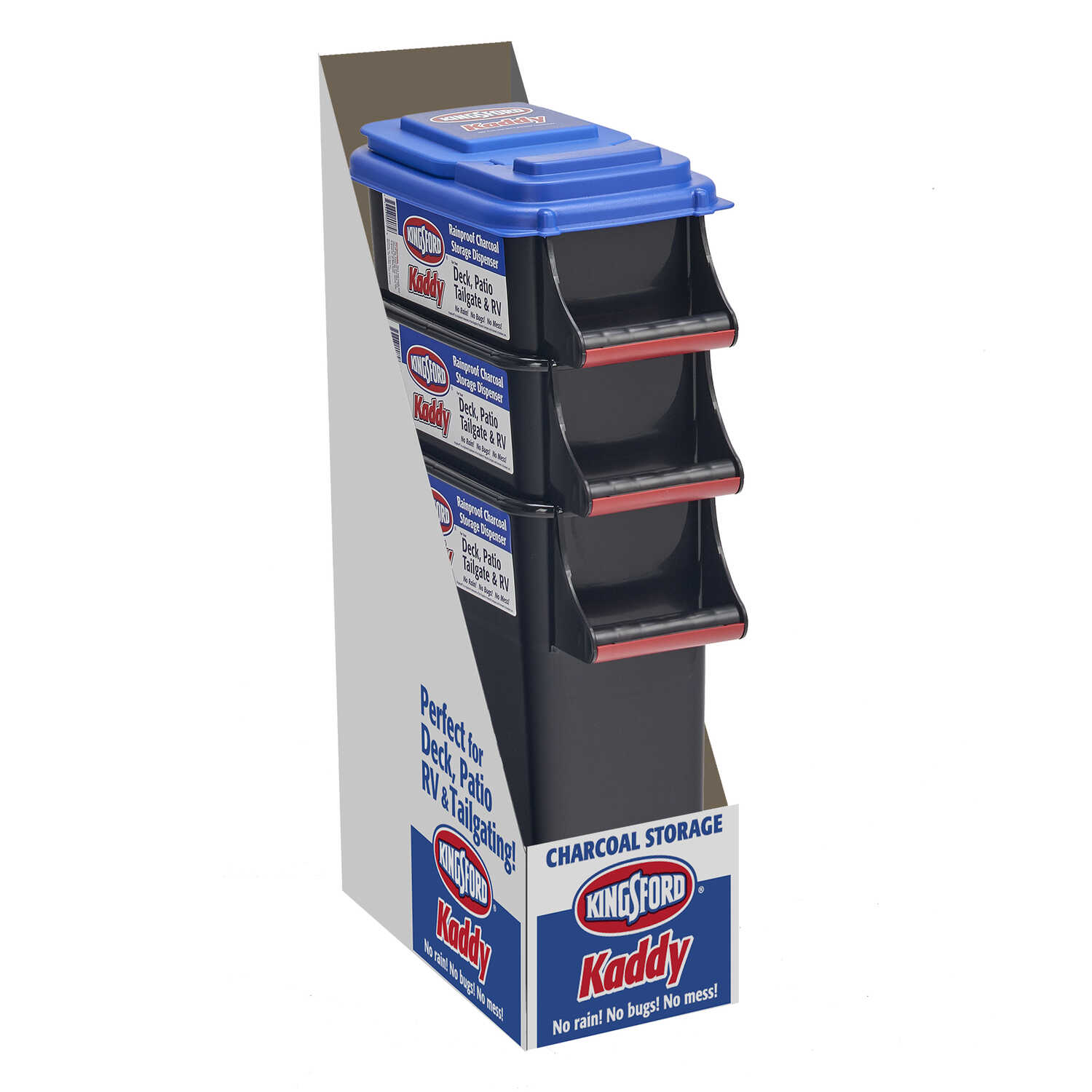 Kingsford  Buddeez Kaddy  16-1/2 in. H x 7-3/4 in. W x 14-1/2 in. D Stackable Storage Bin