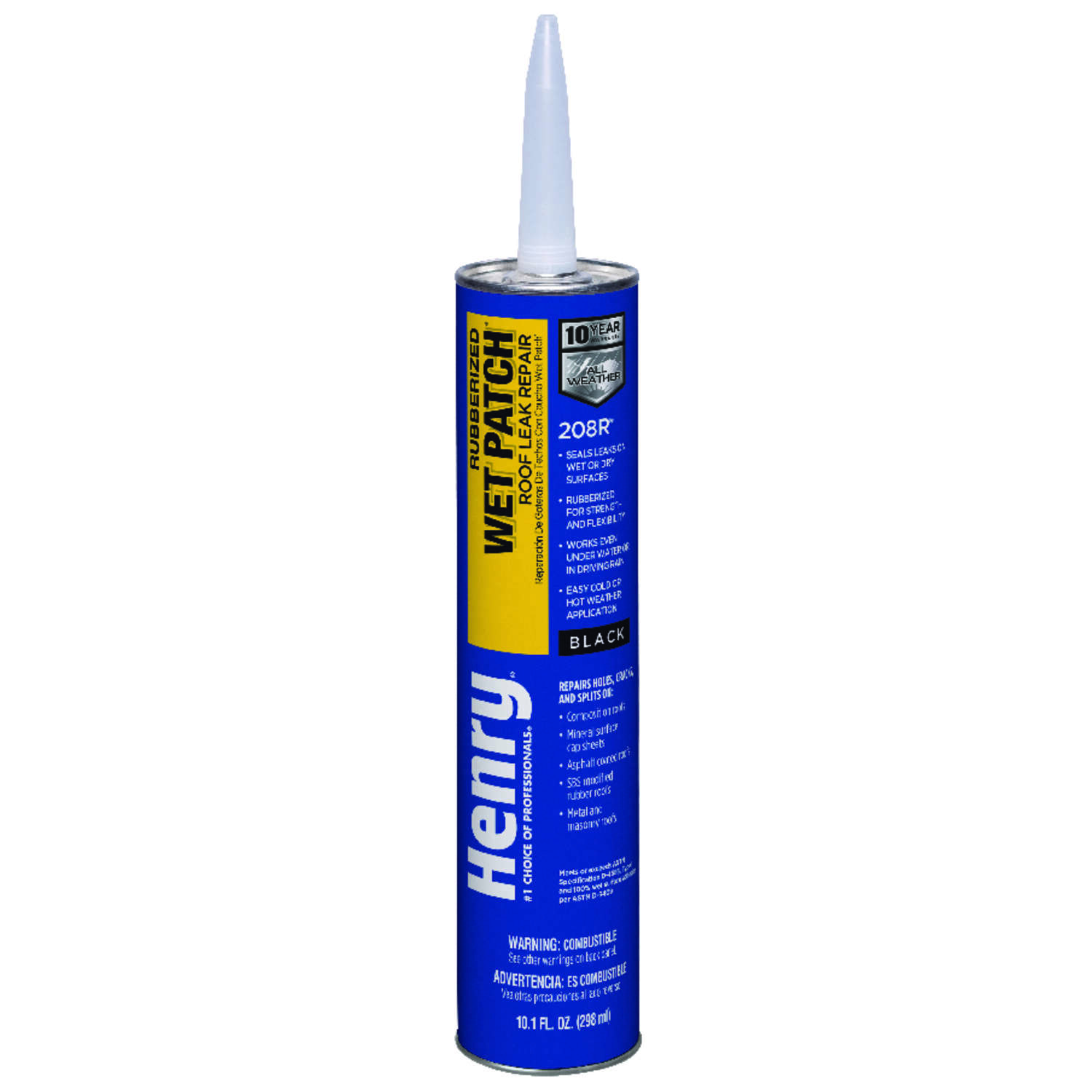 Henry Smooth Black Rubber Based Wet Patch Roof Cement 10 1