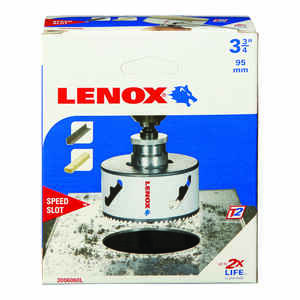 Lenox  Speed Slot  3-3/4 in. Dia. x 1.5 in. L Bi-Metal  Hole Saw  1/2 in. 1 pc.