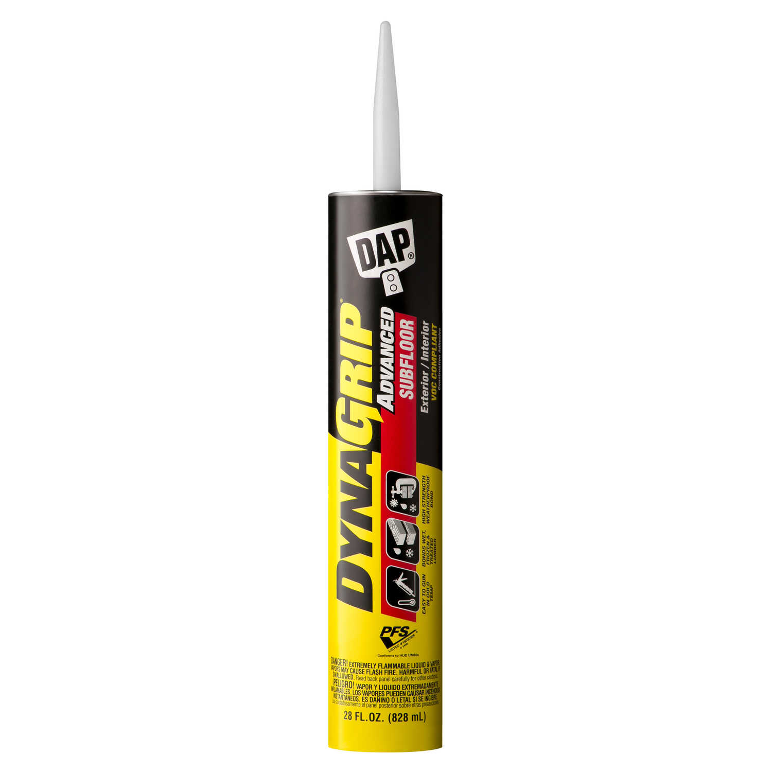 DAP  Dynagrip Advanced  Subfloor Adhesive  28 oz.