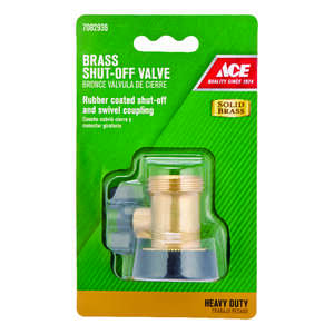Ace  3/4 in. Brass  Threaded  Male/Female  Hose Shut-off Valve