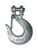 Baron  Large  Galvanized  Silver  Carbon Steel  1/4 in. L Slip Hooks  3150 lb. 1 pk