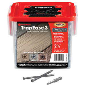 FastenMaster  TrapEase 3  No. 10   x 2-1/2 in. L Torx TTAP  Flat Head Epoxy  Composite Deck Screws