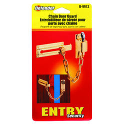Prime-Line  3.25 in. L Bright Brass  Brass  Chain Door Guard