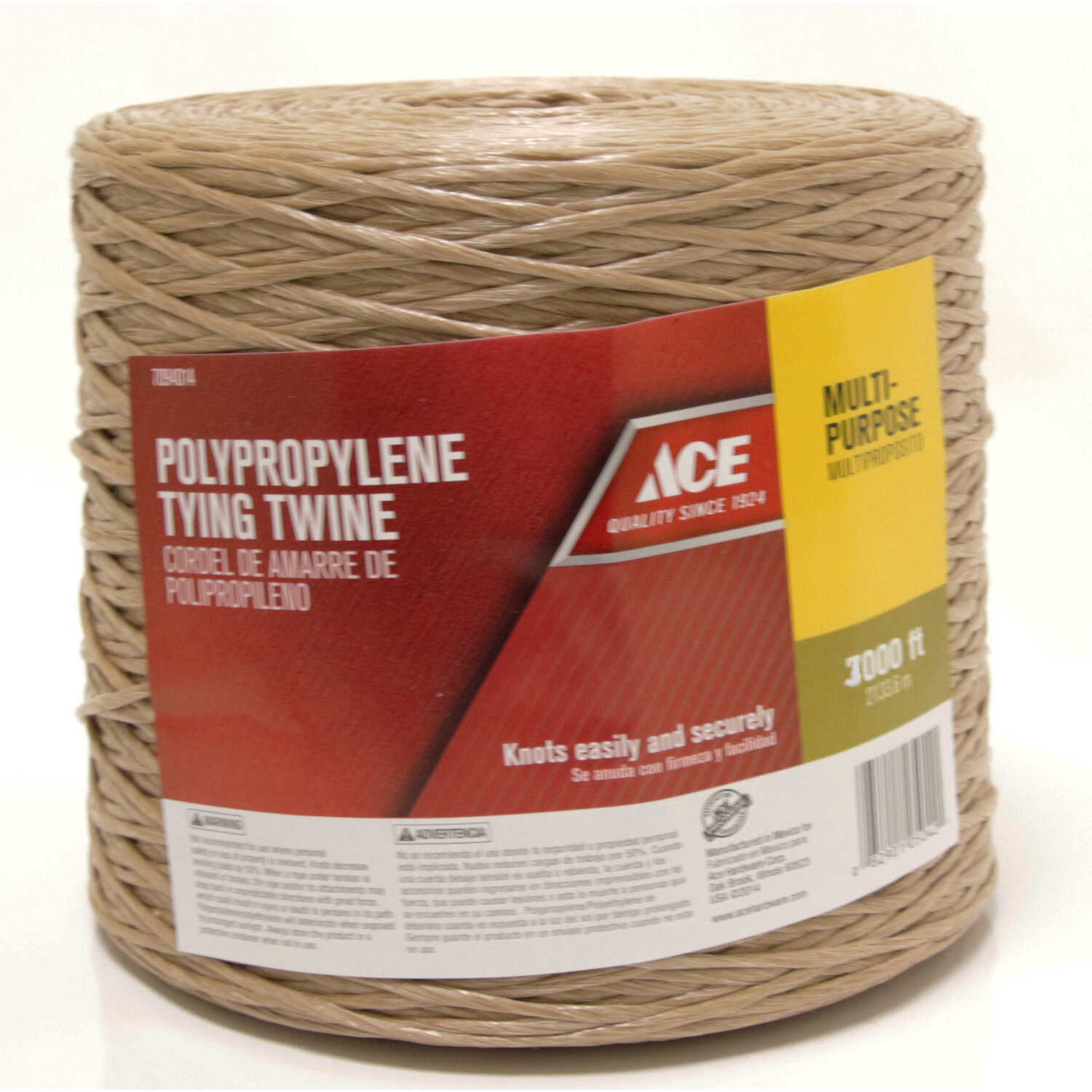 Ace  3000 ft. L Tan  Twisted  Poly  Twine