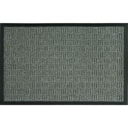 Sports Licensing Solutions Floor Saver II 36 in. L x 24 in. W Gray Parquet Nonslip Floor Mat