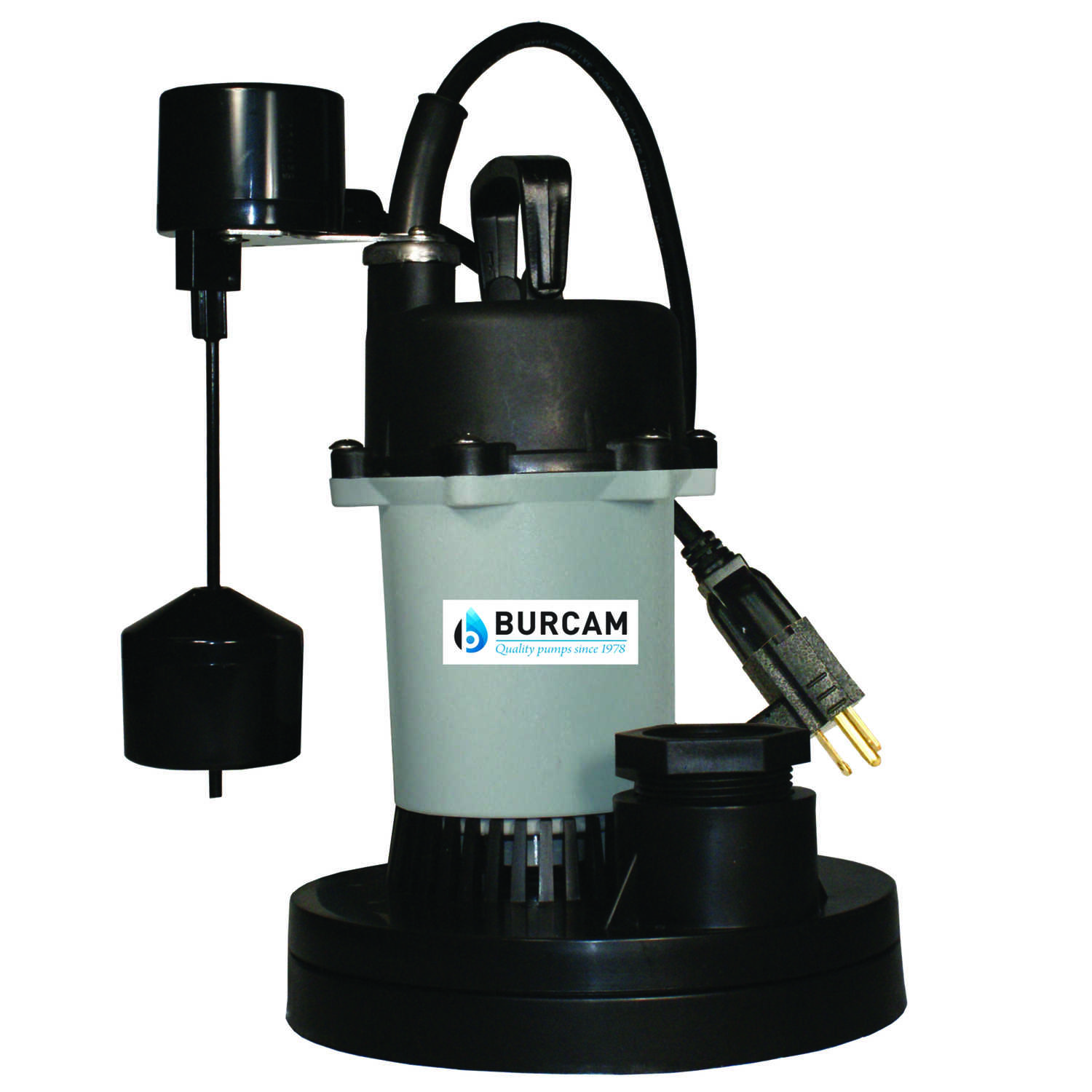 Burcam  1/3 hp 3000 gph Thermoplastic  Submersible Sump Pump