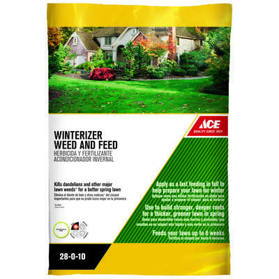 Ace Weed & Feed 28-0-10 Winterizer 15000 sq. ft. For Multiple Grasses