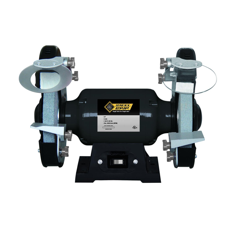 Excellent Steel Grip 8 In Bench Grinder 3 4 Hp 4 8 Amp Amps 3450 Rpm Machost Co Dining Chair Design Ideas Machostcouk
