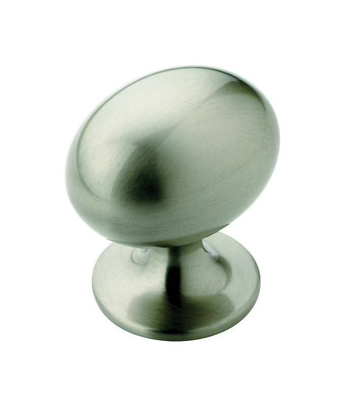 Amerock  Allison  Oval  Cabinet Knob  1-3/8 in. Dia. 1-3/8 in. Satin Nickel  1 pk