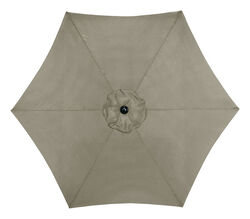 Living Accents  9  Tan  Market  Umbrella