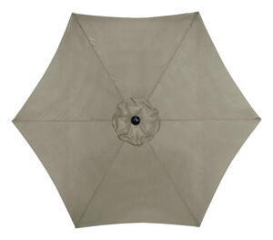 Living Accents  9 ft. Tiltable Tan  MARKET  Patio Umbrella