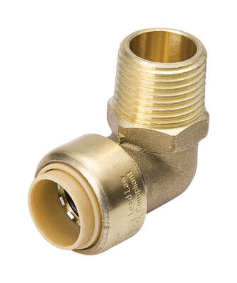 ProLine  Push   MPT  Brass  Elbow