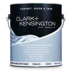 Clark+Kensington  Semi-Gloss  Tint Base  Midtone Hi-Hide Base  Acrylic Latex  Cabinet, Door & Trim P
