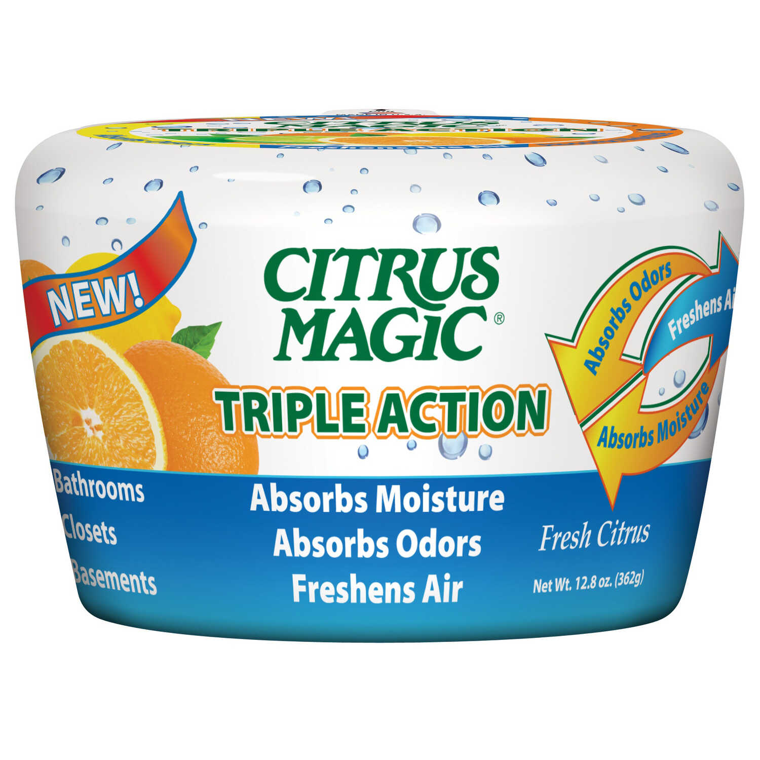 Citrus Magic  Fresh Citrus Scent Air Freshener  12.8 oz. Solid
