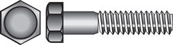 Hillman  1/2 in. Dia. x 4 in. L Zinc Plated  Steel  Hex Bolt  25 pk