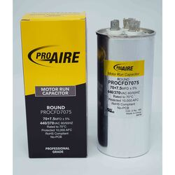 Perfect Aire ProAire 70+7.5 MFD 370 volt Round Run Capacitor