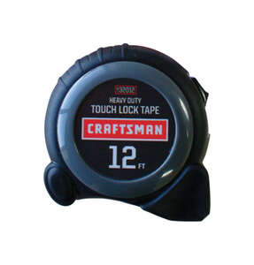 Craftsman  0.63 in. W x 12 ft. L Tape Measure  Black  1 pk