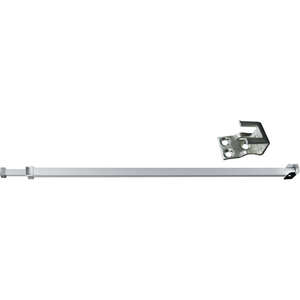 Prime-Line Sliding Door Bar Chrome Mounts on Inside or Outside Sliders Steel 28 in. to 48 in